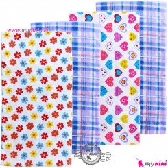 خشک کن پنبه ای 4 عددی نوزاد و کودک ماما پاپا گل زرد Mama papa baby blanket