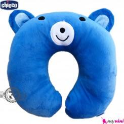بالش دور گردنی چیکو آبی خرس Baby travel pillow