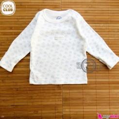 بلوز پنبه ای نوزاد و کودک مارک کول کلاب cool club Long Sleeve Side Snap Shirts