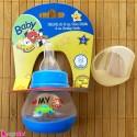 شیشه شیر کوچک و قندداغ خوری نوزاد مای لیتل کار آبی baby cars baby small feeding bottle