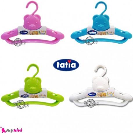چوب لباسی 3 عددی نوزاد و کودک خرسی تاتیا Tatia clothes hanger