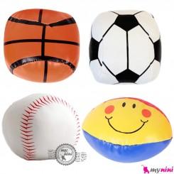 توپ اسفنجی چهار عددی سایز متوسط نوزاد و کودک Sponge ball toy