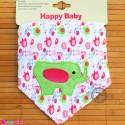 دستمال گردن نوزاد و کودک 2 لایه فیل Baby Triangle cotton bibs