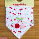 دستمال گردن نوزاد و کودک 2 لایه آلبالو Baby Triangle cotton bibs