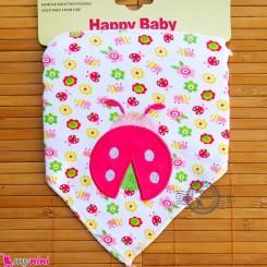 دستمال گردن نوزاد و کودک 2 لایه گل و کفشدوزک Baby Triangle cotton bibs
