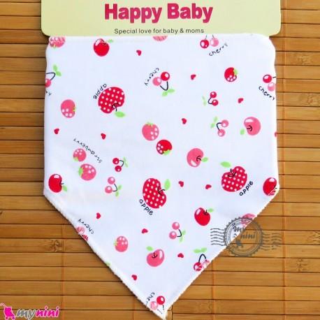دستمال گردن نوزاد و کودک 2 لایه سیب Baby Triangle cotton bibs