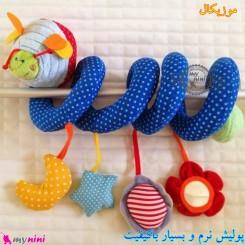 عروسک آویز نوزاد و کودک پولیشی موزیکال زنبور baby activity spiral plush toy سیسمونی