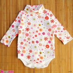 لباس زیردکمه دار پنبه ای کودک 12 ماه Kids long sleeve bodysuits