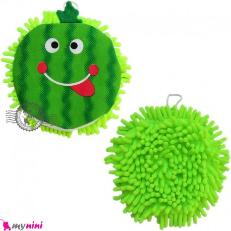 لیف طرح ماکارونی نوزاد و کودک سبز Baby Hand Bath Shower Wash Mitt