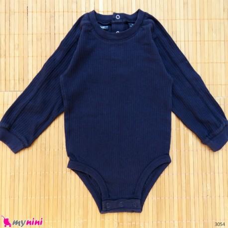 بلوز آستین بلند زیردکمه دار پنبه ای بچگانه 12 ماه Kids long sleeve bodysuits