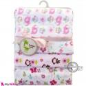 خشک کن پنبه ای نوزاد و کودک 4 عددی برند فَشن بِیبی صورتی جغد و فیل Fashion baby newborn blankets