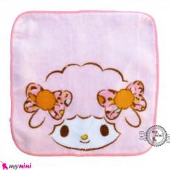 حوله دست و صورت نوزاد و کودک صورتی گوسفند Baby washcloths