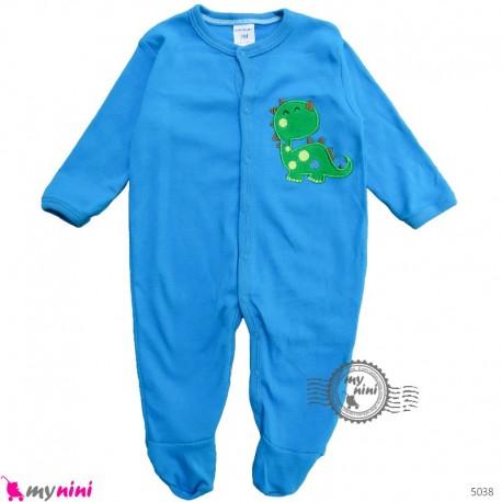 سرهمی کارترز پنبه ای نوزاد و کودک آبی دایناسور 3 ماه Carter's baby bodysuit