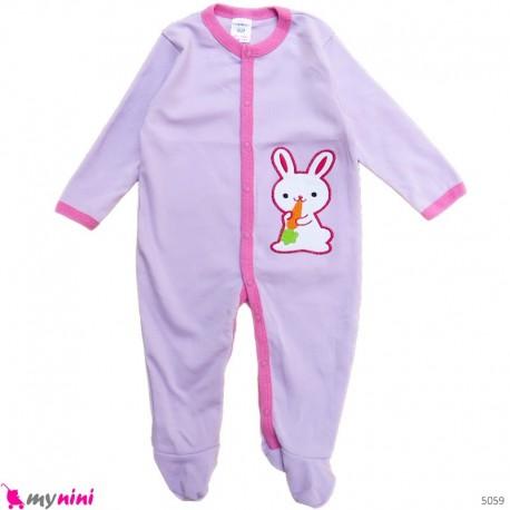 سرهمی کارترز پنبه ای نوزاد و کودک یاسی خرگوش 6 ماه Carter's baby bodysuit