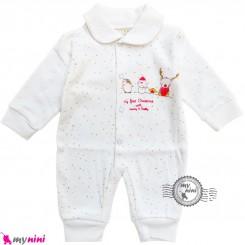 سرهمی نوزاد و کودک نخ پنبه آدم برفی Snow man baby clothes