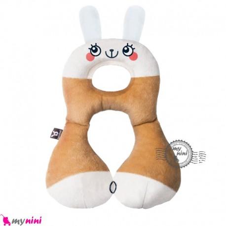 بالش فرم دهنده سر نوزاد و کودک و غلت گیر چند کاره خرگوش Baby travel pillow خرید سیسمونی و لوازم کودک