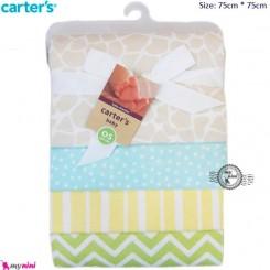 خشک کن نوزاد و روانداز 4 عددی سنگی کارترز Carter's