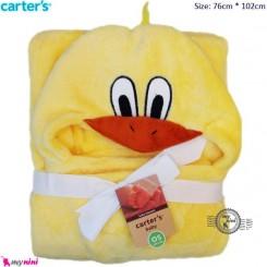 پتو کلاه دار نوزاد و کودک جوجه کارترز carter's blanket