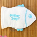 لیف نوزاد و کودک عروسکی ماهی آبی Baby Hand Bath Shower Wash Mitt سیسمونی نوزاد و لوازم کودک