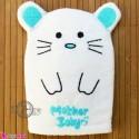 لیف نوزاد و کودک عروسکی موش رنگ سبزآبی Baby Hand Bath Shower Wash Mitt سیسمونی نوزاد و لوازم کودک