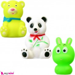 پوپت و اسباب بازی حمام نوزاد و کودک 3 عددی حیوانات baby bath toys