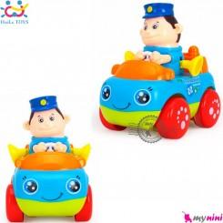 اسباب بازی ماشین هویلی تویز نوزاد و کودک طرح پلیس Huile Toys professional car سیسمونی و وسایل کودک