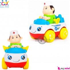 اسباب بازی ماشین هویلی تویز نوزاد و کودک طرح دکتر Huile Toys professional car سیسمونی و وسایل کودک
