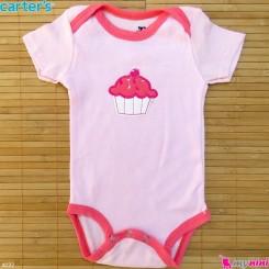 لباس آستین کوتاه زیردکمه دار بچه گانه نخ پنبه مارک کارترز 0 تا 3 ماه Carters baby bodysuits