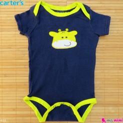 لباس آستین کوتاه زیردکمه دار بچه گانه نخ پنبه مارک کارترز 9 تا 12 ماه Carters baby bodysuits