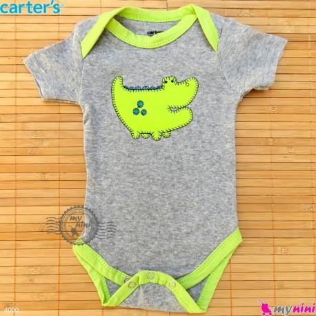 لباس آستین کوتاه زیردکمه دار بچه گانه نخ پنبه مارک کارترز Carters baby bodysuits سیسمونی و لباس کودک