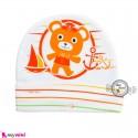 کلاه پنبه ای خرس ملوان نارنجی Newborn cotton hat