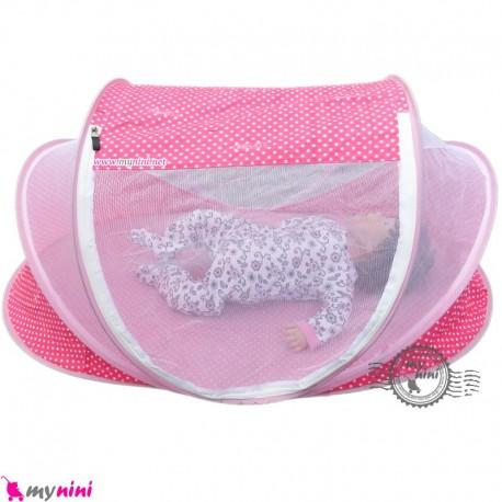 پشه بند سایز بزرگ نوزاد و کودک مارک اسپرینگ صورتی Espring Baby mosquito net