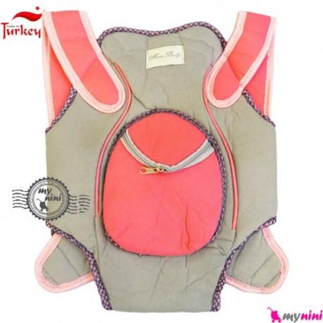 آغوشی نوزاد میسی بِی بی ترکیه طوسی صورتی Missi baby carrier