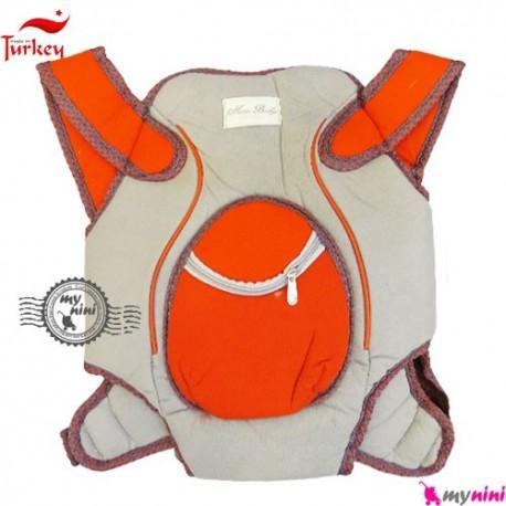 آغوشی نوزاد میسی بِی بی ترکیه طوسی قرمز Missi baby carrier