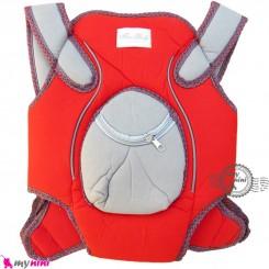 آغوشی نوزاد میسی بِی بی ترکیه قرمز طوسی Missi baby carrier