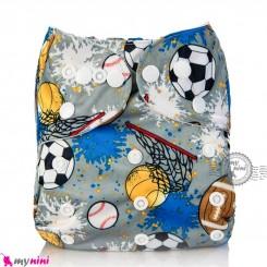 شورت آموزشی نوزاد و کودک 3 لایه طرح توپ مارک کارته بِی بی carte baby reusable diaper