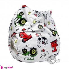 شورت آموزشی 3 لایه فشِن بی بی مزرعه Fashion baby reusable diaper