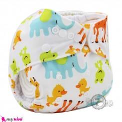 شورت آموزشی نوزاد و کودک 3 لایه زرافه مارک کارته بِی بی carte baby reusable diaper