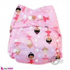 شورت آموزشی نوزاد و کودک 3 لایه صورتی دختر مارک کارته بِی بی carte baby reusable diaper
