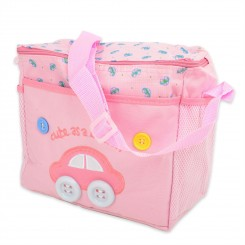 ساک لوازم نوزاد متوسط ماشین صورتی  Cute Button Car