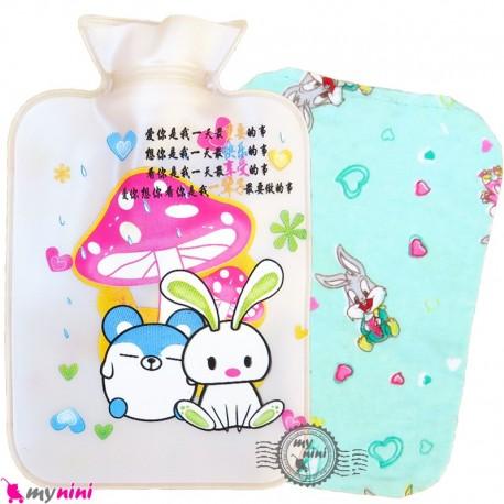 کیسه آبگرم و آبسرد کاوردار نوزاد یاسی موش و خرگوش Hot and cold Water Bottle
