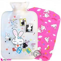 کیسه آبگرم و آبسرد کاوردار نوزاد و کودک صدفی خرگوش Hot and cold Water Bottle