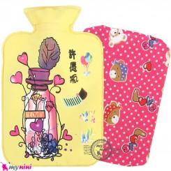 کیسه آبگرم و آبسرد کاوردار نوزاد و کودک زرد لاو Hot and cold Water Bottle