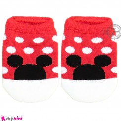 جوراب نوزاد و کودک کف استپ دار پنبه ای مارک چیچی اند کُوکُو خالدار میکی موس cici & coco baby cute socks