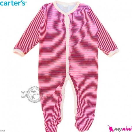 سرهمی نوزاد و کودک پنبه ای مارک کارترز 6 ماه قرمز راه راه Carter's baby bodysuit