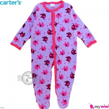 سرهمی نوزاد و کودک پنبه ای مارک کارترز 9 ماه یاسی فیل Carter's baby bodysuit