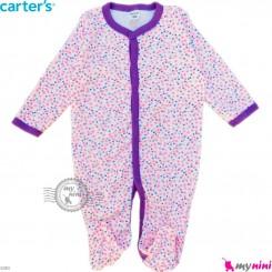 سرهمی نوزاد و کودک پنبه ای مارک کارترز 12 ماه گل ریز Carter's baby bodysuit