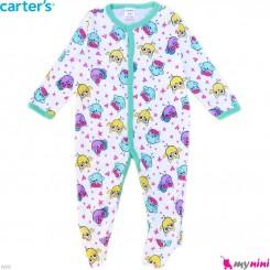 سرهمی کارترز پنبه ای نوزاد و کودک جغد 6 ماه Carter's baby bodysuit
