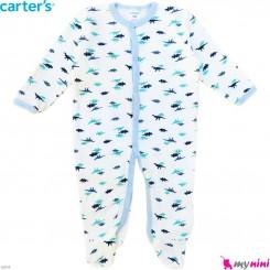 سرهمی کارترز پنبه ای نوزاد و کودک دایناسور 9 ماه Carter's baby bodysuit
