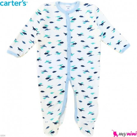 سرهمی کارترز پنبه ای نوزاد و کودک طرح اسلیمی 6 ماه Carter's baby bodysuit